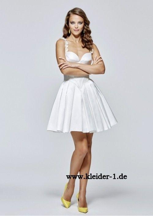 Weißes Cocktailkleid Olivia
