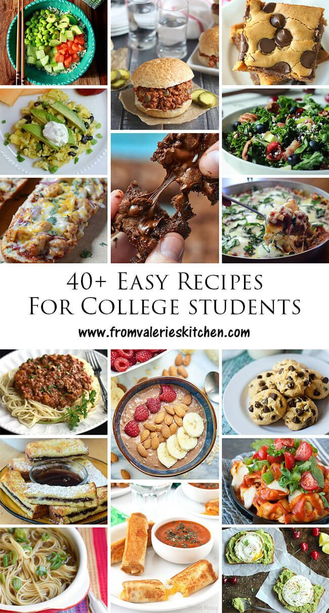 Recipes for the college cook. Simple ingredients, no fancy kitchen tools required, easy prep! ~ www.fromvaleriesk...