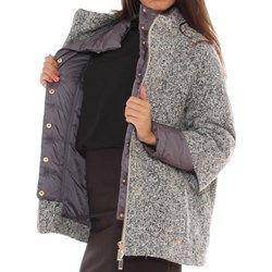 Cappotto in velour misto lana pepesale doppiato con nylon trapuntato luana-romizi neri lunghe