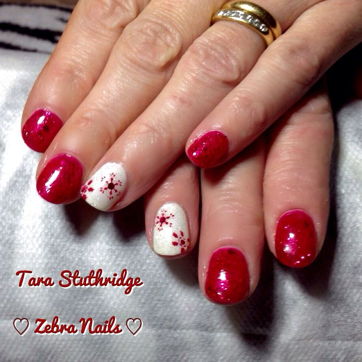 Red glitter Gelish trends