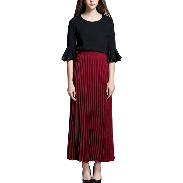 1000  ideas about Burgundy Maxi Skirts on Pinterest | Long skirt ...