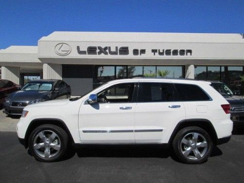 Jeep Grand Cherokee Overland 2011 4x4 4wd White 5 7l V8 Leather