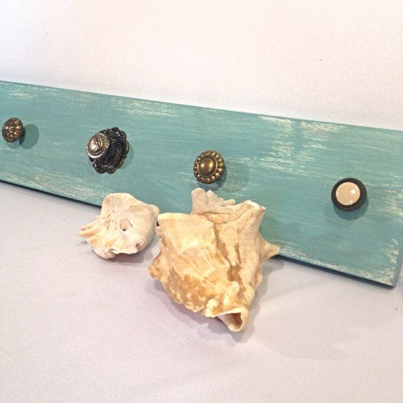 Beach Cottage Blue Coat Rack Jewelry Hanger Blue by shabbyshores, $45.00 #beachcottage https://www.etsy.com/listing/175229234/beach-cottage-blue-coat-rack-jewelry?ref=listing-shop-header-1