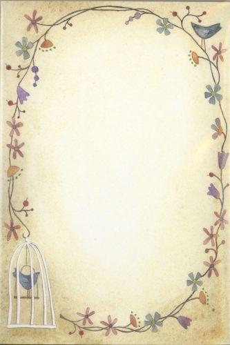 Bird Garland Notepad