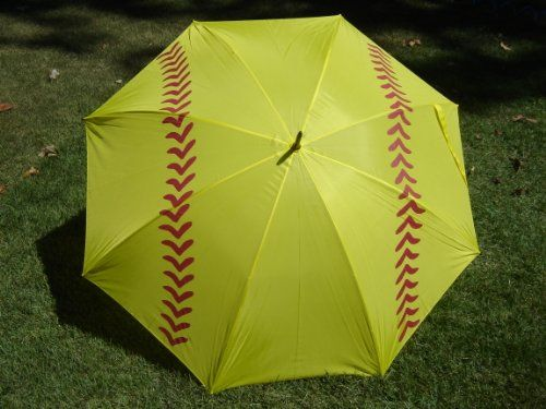 """Softball Girls Sports Golf Umbrella 60"""" FACTORY 2ND COSMETIC STAIN - Listing price: $24.99 Now: $15.49"""