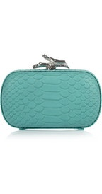 love the color, love the box clutch style!