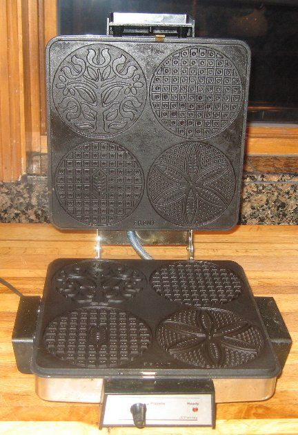 pizzelle maker. this is a home model. I am searching for a larger, industrial style.