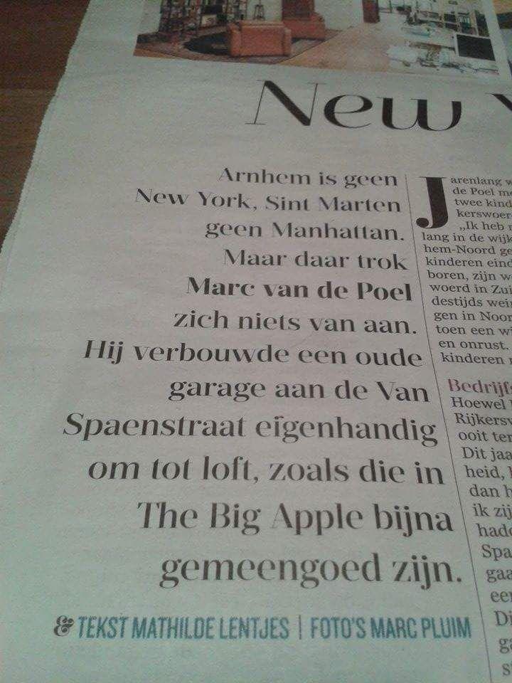 Voor dagblad De Gelderlander verzorgen we diverse rubrieken. Dit is de rubriek Net Gekocht waarin huizenbezitters vertellen over hun aankoop.