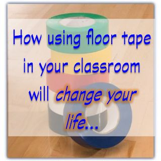 A bunch of ways to use floor tape in your classroom- wow- I didn't realize how awesome this stuff was! Pin now- get later!!