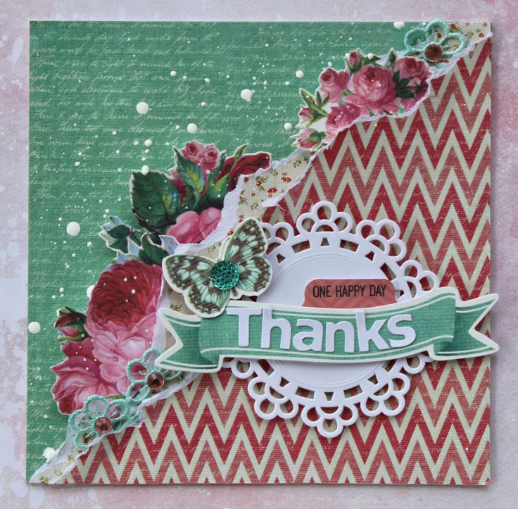 Thanks - Kaisercraft DT - Scrapbook.com