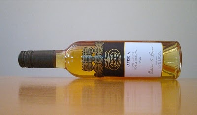 """Wine blogger Wino Sapien on Patricia Noble Riesling 2006: """"Sugar cane, marmalade, honey, tea leaf. . . Simple, lush, playful, persistent. . . In the end, I keep returning to the image of Suchard Sugus sweets."""""""