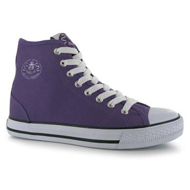 Dunlop | Dunlop Ladies Canvas High Top Trainers | Ladies High Tops