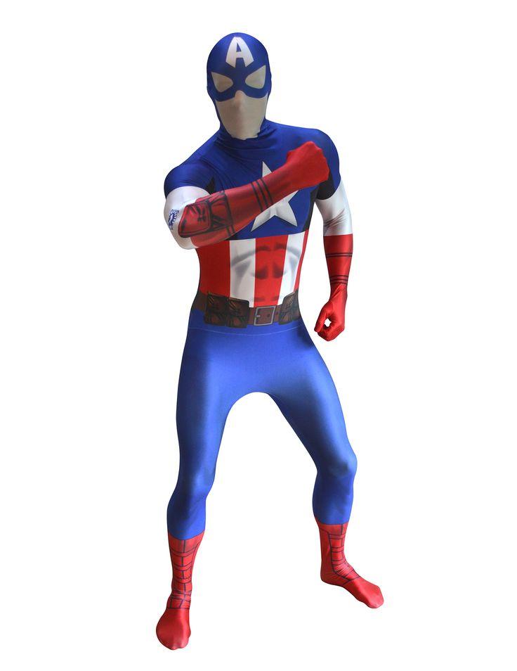 Déguisement Morphsuits™ Captain America Digital adulte : Ce déguisement pour adulteCaptain AmericaMorphsuits™est sous licence officielle Marvel™. Il comprend une combinaison intégrale.La combinaison...