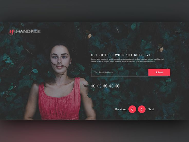 Dribbble - Coming Soon Page WIP by Abdullah Noman