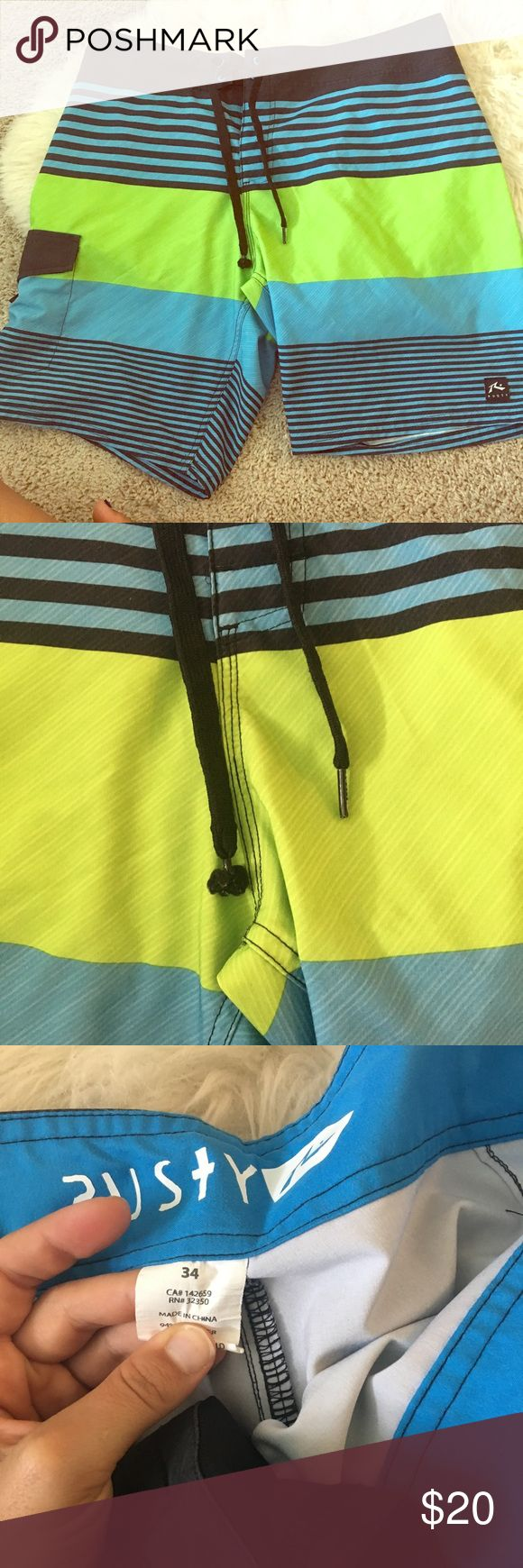 Men's bathing suit Great condition! The tie is a little messed up as shown in the photo, otherwise amazing condition. Rusty Swim