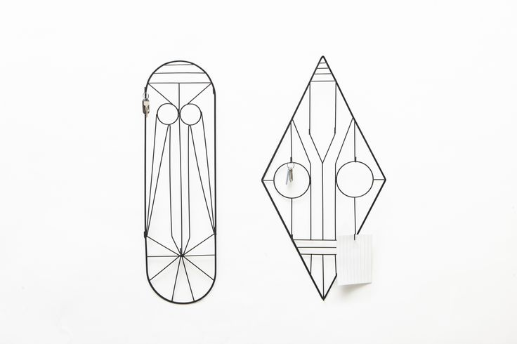 BU!, Federico Floriani Bu! is a metal wire wall organizer inspired by the decorative door railings of southern Italian heritage. You are welcomed by a friendly face hanging on your wall as an extra host in your home, that makes arriving home unique every day. #extraordinarygallery #fabrica #federicofloriani