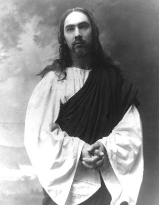 Young Béla Lugosi as Jesus in a Hungarian passion play.