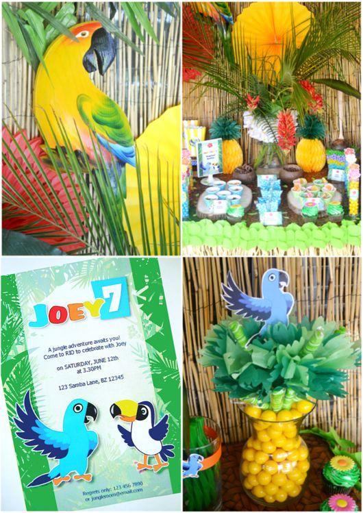 Rio Birthday Party Printables Supplies & Decorations   BirdsParty.com