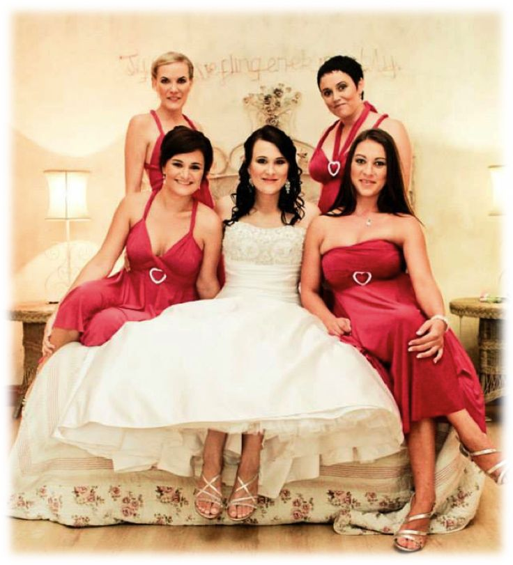 Cerise pink Infinity dresses - customise them in up to 27 different ways! Call us to order:021 556 3407
