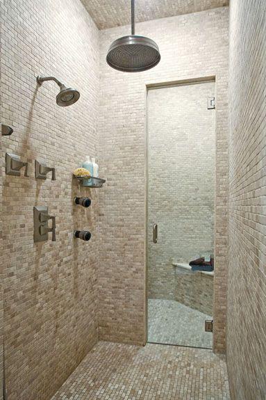 Shower-steam room combo