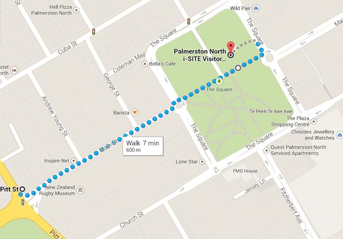 From 1 May our Palmerston North bus stop is moving! Buses will now arrive and depart from The Square (by the i-SITE).
