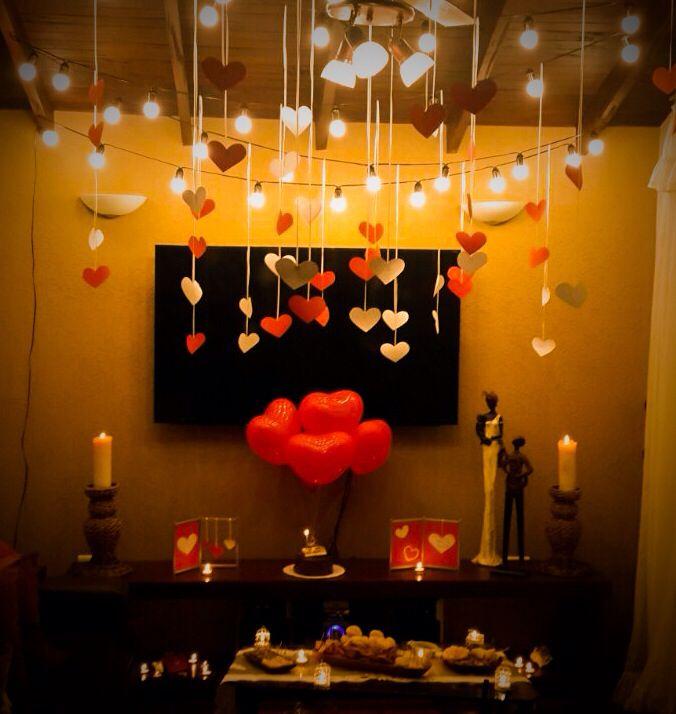 Decoración para una noche romántica
