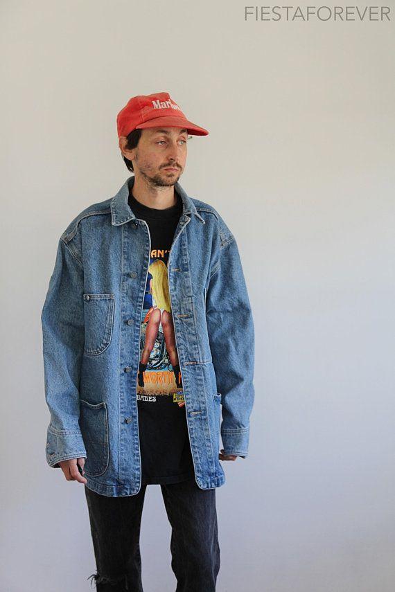 36562a5e1 CK Jeans 90s Denim Chore Jacket Oversized Mens Medium | Fashion ...