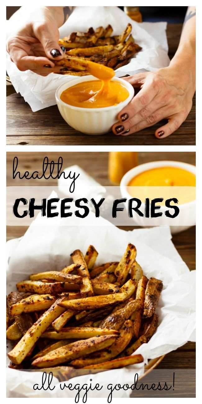 Healthy Cheesy Fries | no regrets, all cheesy fries deliciousness! Vegan, clean eating, gluten free.