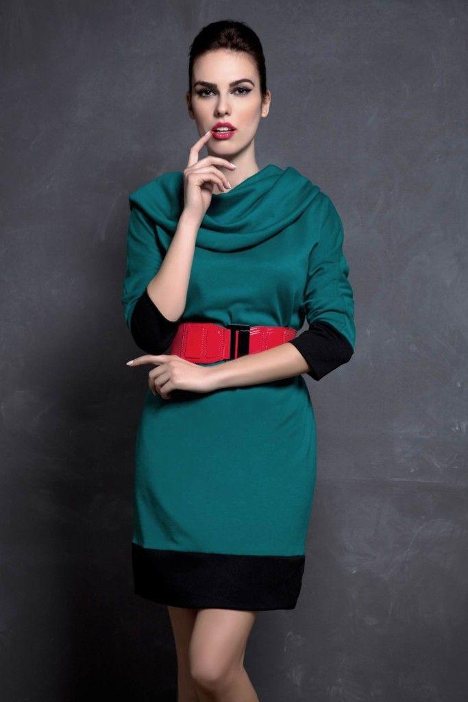 SARTORIAL | Chryssomally || Art & Fashion Designer - Emerald dress with asymmetrical neckline
