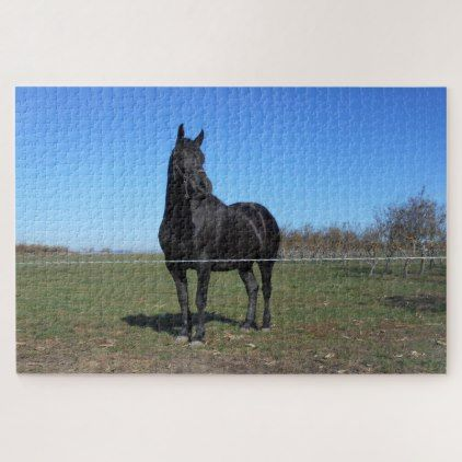 Black Horde In The Pasture Jigsaw Puzzle - home gifts ideas decor special unique custom individual customized individualized