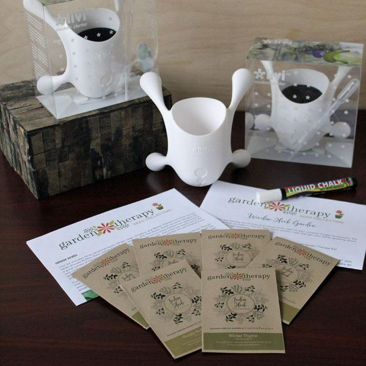 Garden Therapy Window Herb Garden Kit - Handpicked and curated by the mastermind behind the wildly successful gardening and lifestyle blog, Garden Therapy, Stephanie Rose and GardenTrends are pleased to present the first of eight exclusive seed collections! Collections are limited and will only be available until sold out! Start the journey of growing herbs right on your window with this Window Herb Garden Kit! #gardentrends #herbgarden #gardening