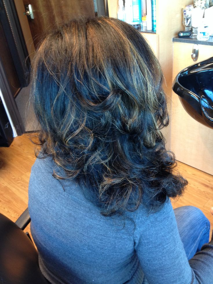 Blue Highlights Hair Gallery Hair Extensions For Short Hair