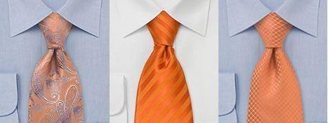 Оранжевая рубашка с галстуком фото
