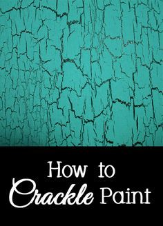Crackle paint is a fun decorative finish that does not require any expensive specialty paint, although there are many companies that will charge you a lot of money for their crackle paint. Adding a crackle finish to an object will give it a...