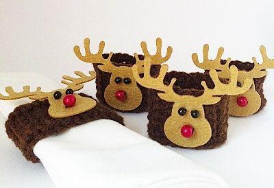 Christmas Table Decoration Crochet Napkin Ring by KnitADeeDooDah, £12.00
