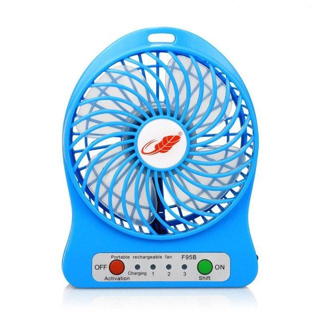 USB Mini Fan Portable Electric Fans LED Portable Rechargeable Desktop Fan  Cooling Air Conditioner Portable Fan