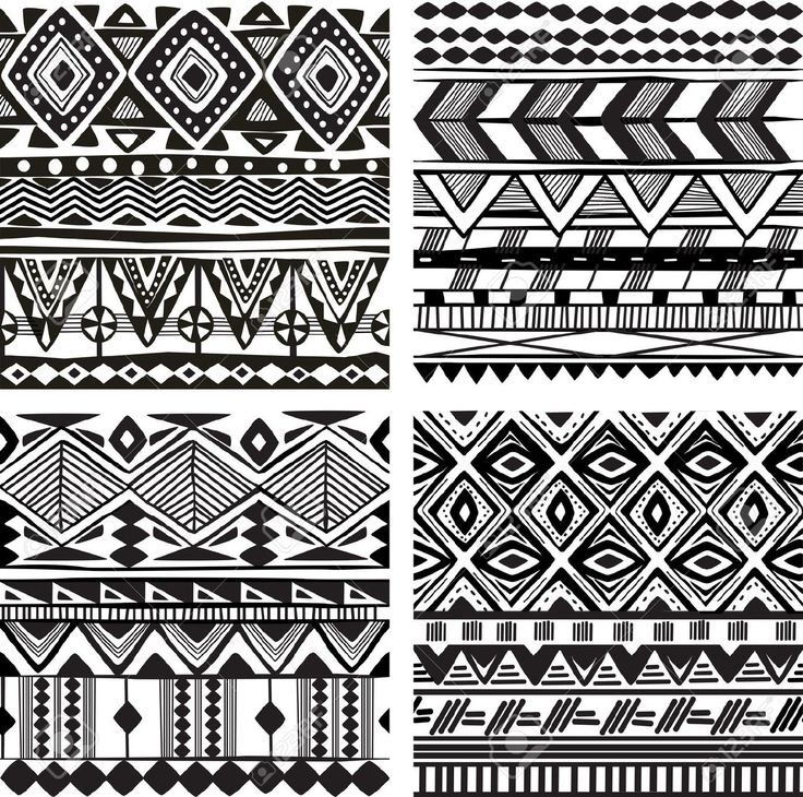 african patterns black and white seamless - Google Search