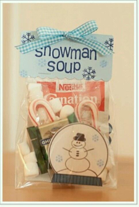 Snowman Soup- even includes s poem