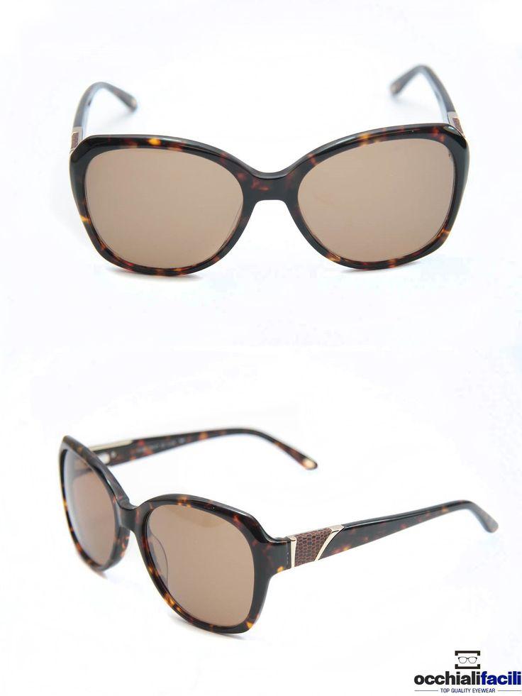 Occhiali da sole Mata CL103 C1, da donna in celluloide maculato con strass, lenti sfumate e forma geometrica. http://www.occhialifacili.com/prodotto/occhiali-da-sole-mata-cl103-c1/