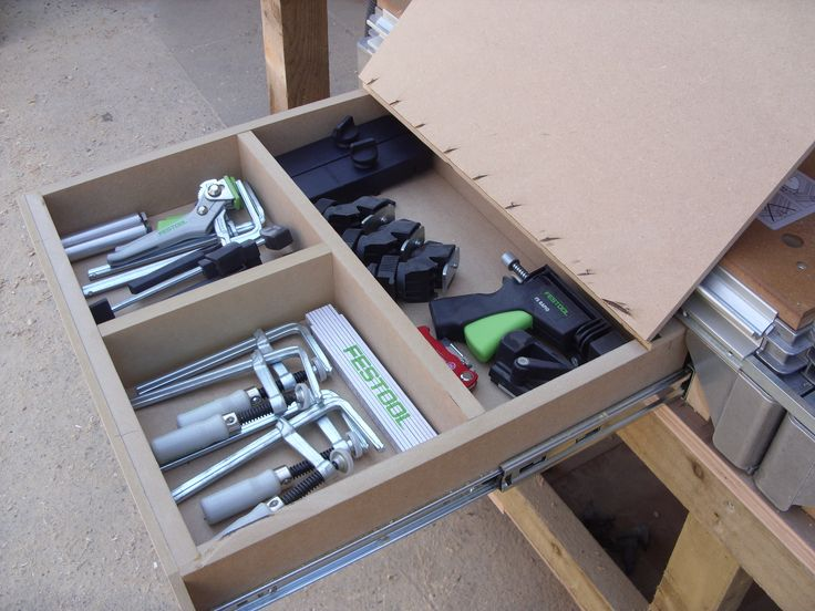 Mft Clamp Storage Drawer Festool Mft Workbench