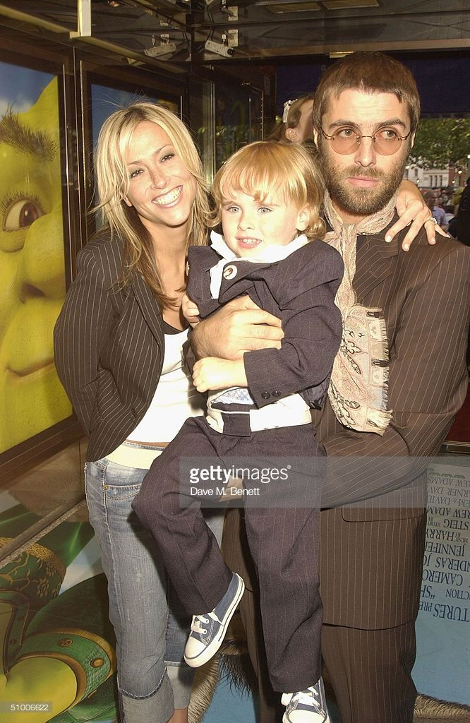 Oasis Frontman Liam Gallagher Son Gene Appleton Gallagher And Wife Nicole Appleton Arrive At The Uk Charity Premiere Of Shrek 2 A