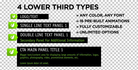 Unhinged Lower Thirds customizable After Effects lower third project template for video.