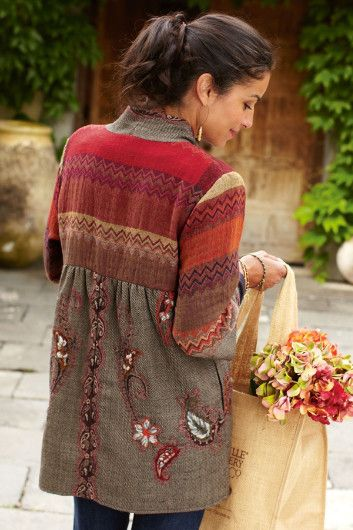 Women's Izmir Jacket - Tapestry Jacket, Three Quarter Sleeve Jacket, Embroidered Jacket, Ladies Tweed Jacket | Soft Surroundings