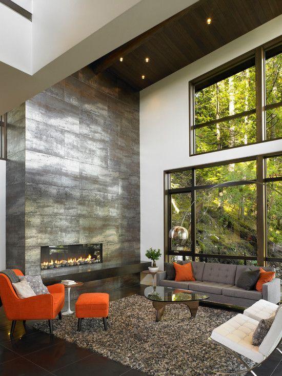 Holz Boden Und Decke Modern Interieur. dachgeschoss einrichten ...