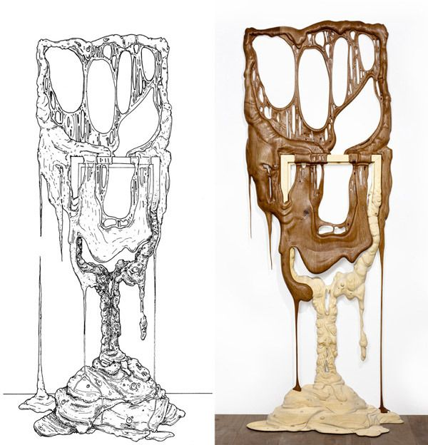 Melting Wood: Surreal Hand-Carved Picture Frames