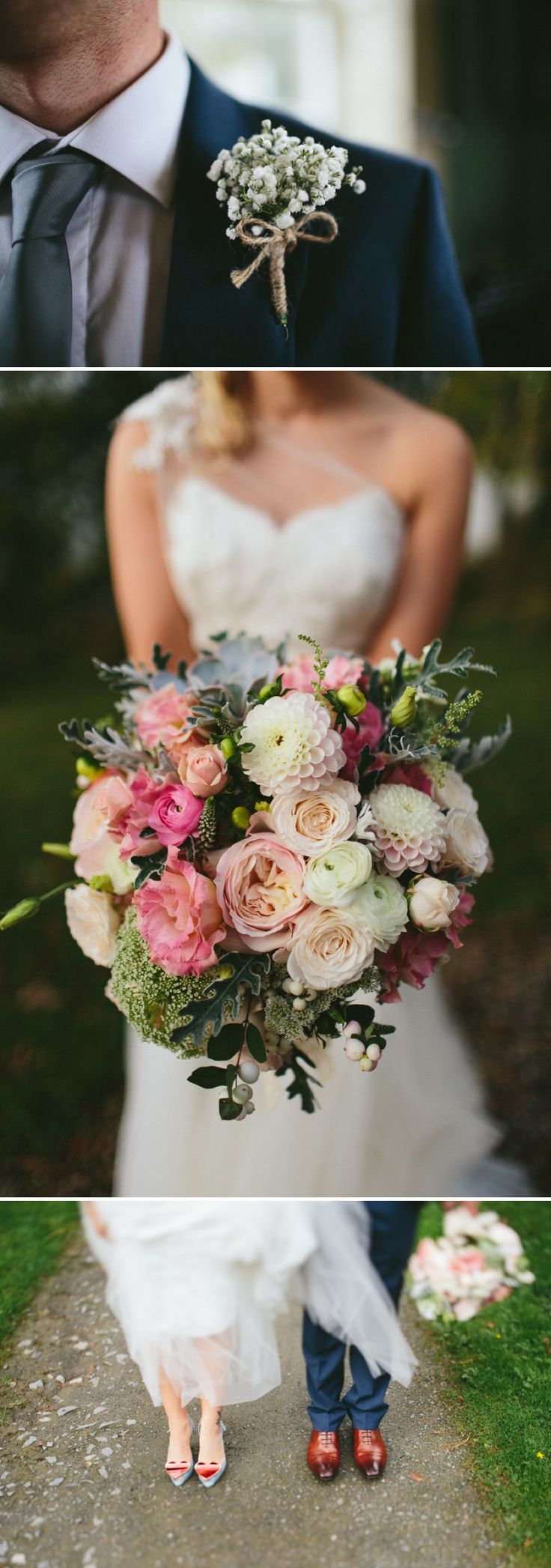 A Romantic And Glamorous Wedding In Northern Ireland At Mount Stuart With Pink Dessy Bridesmaid Dresses With A Dahlia And Rose Bouquet With ...