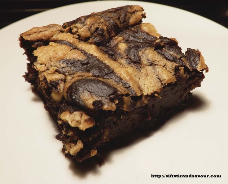 PEANUT BUTTER SWIRL BROWNIES- Vegan, Gluten & Grain- Free, Refined Sugar-Free & Oil-Free