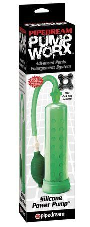 Pump worx silicone power pump - green (Package Of 4) by Pipedream Products. $82.25. great bedroom gift. Great to stock your shelfs. 4 Pack. The Silicone Power Pump from Pipedream will give you the size and confidence you've always dreamt about without any harmful side effects. With each squeeze of the medical-style pump ball, your pleasure rod will grow bigger, thicker, and swell with power. Once you penetrate the body-safe, soft silicone opening&...