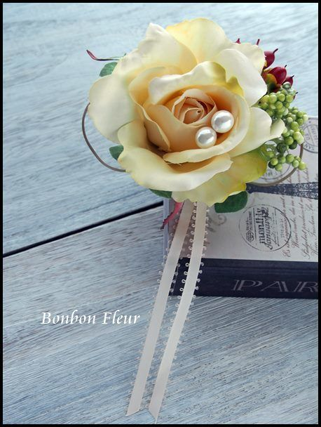 入学式用コサージュ : Bonbon Fleur ~ Jours heureux コサージュ&和装髪飾り