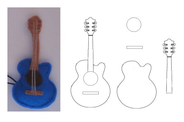 .Felt - les paul guitar :-))